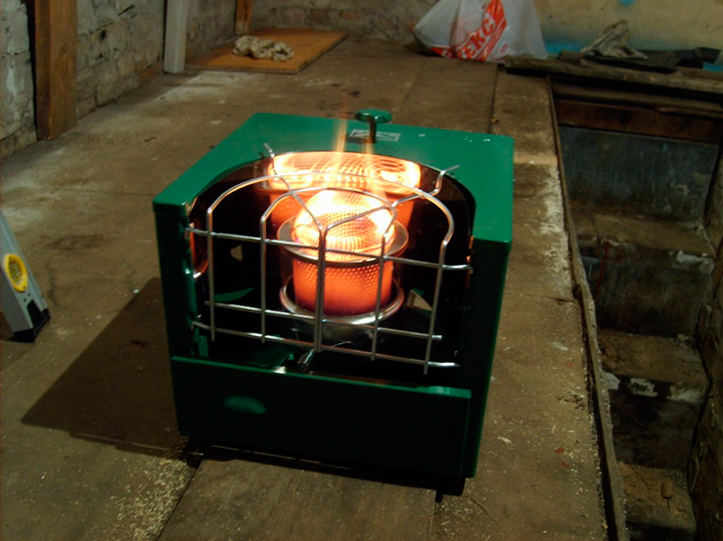 Самодельный газовый нагреватель для гаража