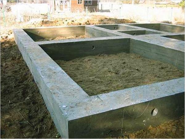 Формирование фундамента для бани из газобетона