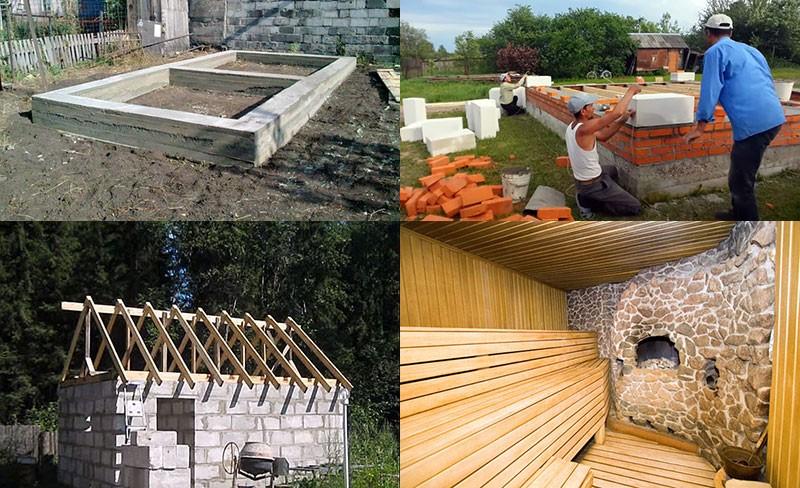 Основные шаги строительства бани