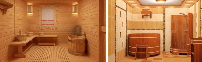 Варианты внутренней отделки бани из газобетона