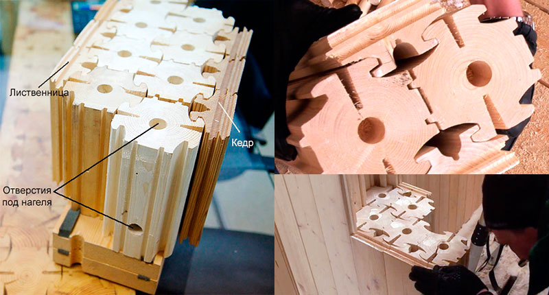 Конфигурация бруса согласно технологии naturi