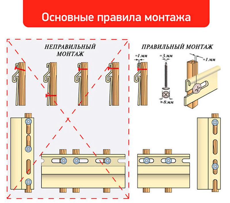 Примеры правильного и неправильного монтажа винилового сайдинга