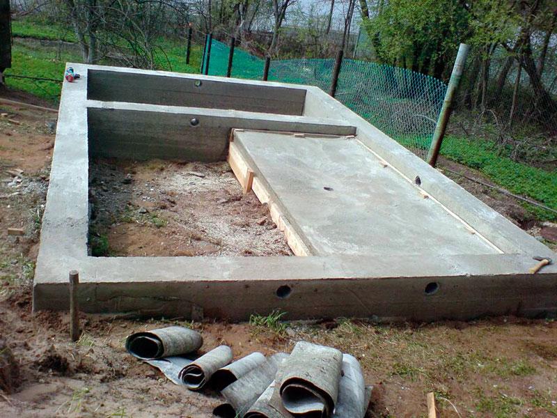 Фундамент под баню и печь