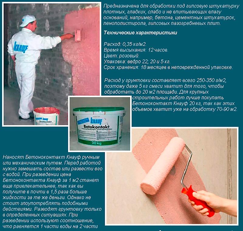 Рекомендации, как наносить бетоноконтакт