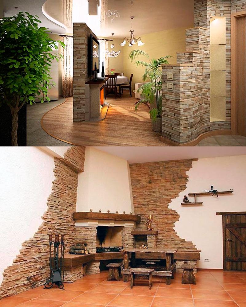 Примеры интерьеров после отделки помещений керамической и керамогранитной искусственной плиткой