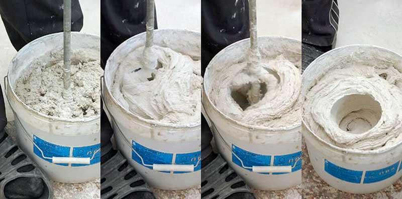 Пошаговое приготовление гипсового раствора