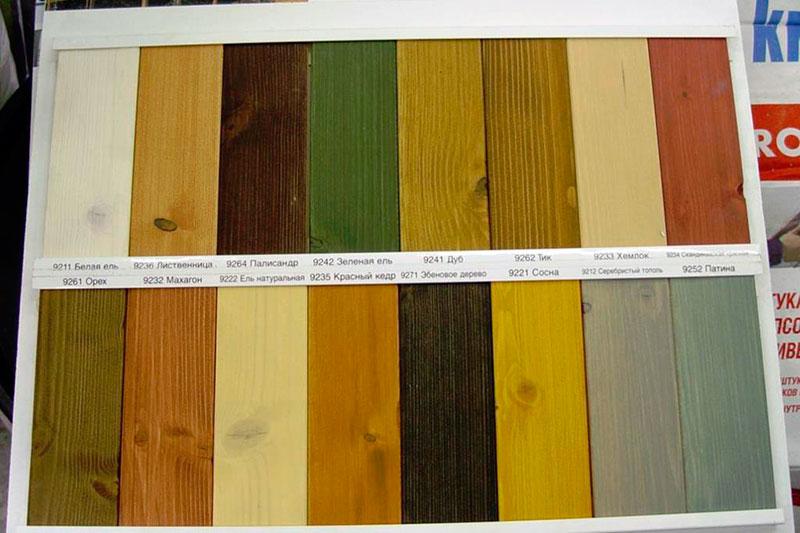 Натуральные краски для дерева
