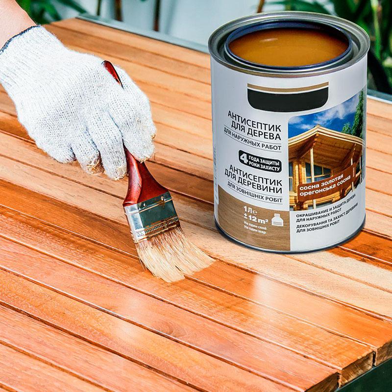 Окрашивание древесины лаком