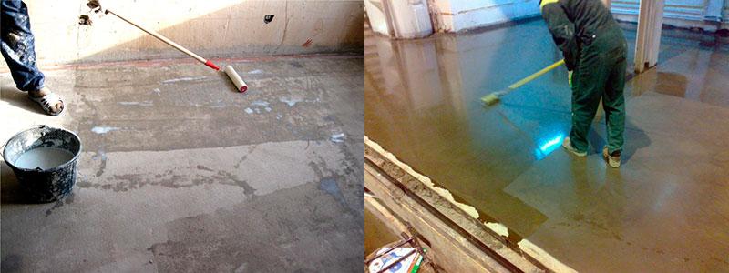 Создание защитного слоя для стяжки бетонного пола