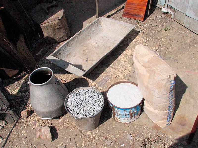 Компоненты для приготовления бетонного раствора