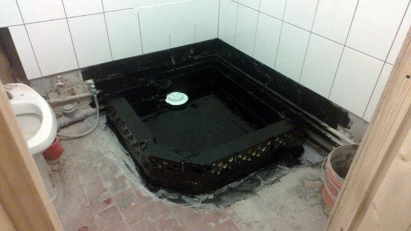 Один из вариантов гидроизоляции трапа в полу