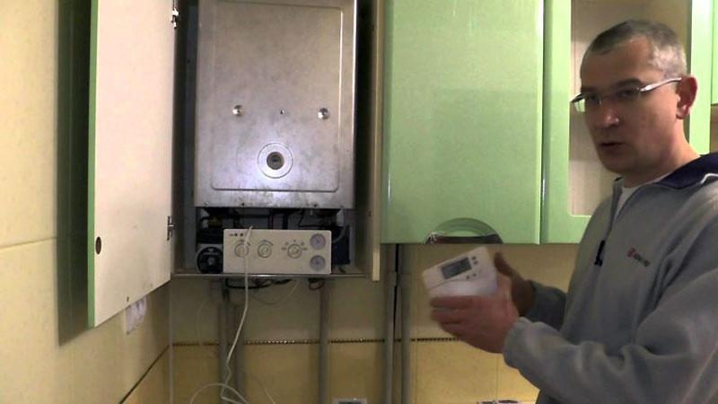 Проводной терморегулятор для газового котла