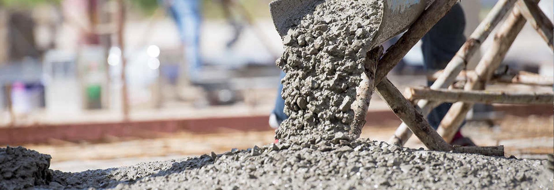 Полученный раствор бетона