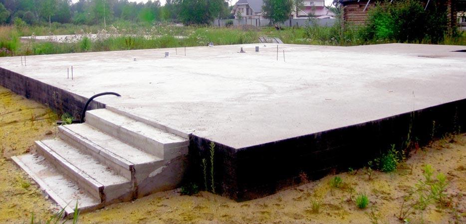 Пример сформированного бетонного основания