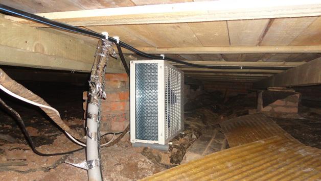 Сплит-система в погребе частного дома
