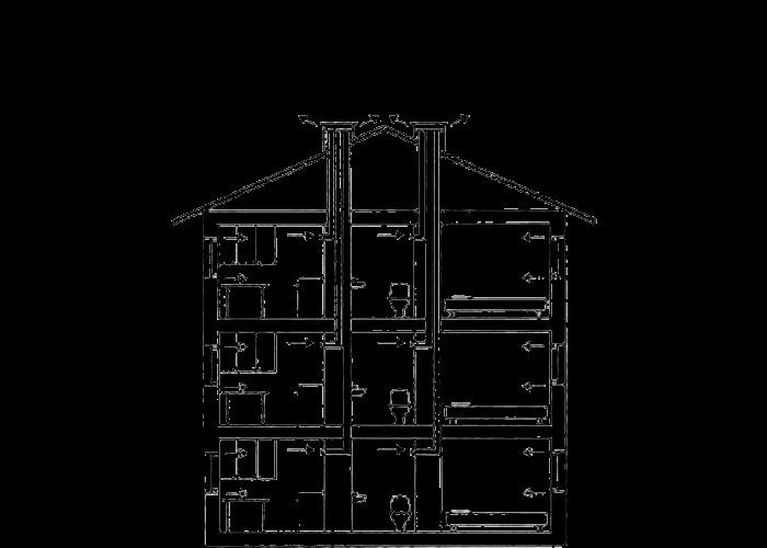 Рисунок 9 – Схема вентиляции хрущевки