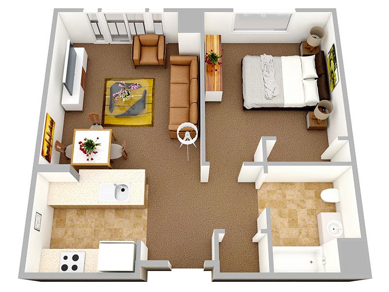 Пример перепланировки большой квартиры с одним главным помещением