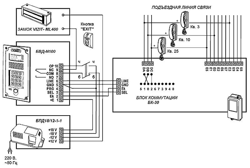Принцип работы аналогового домофона