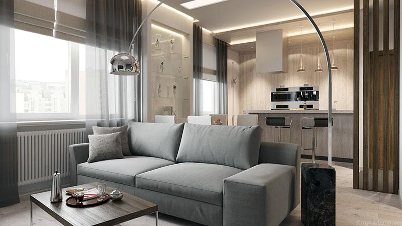Интерьер жилого помещения площадью в 20 м2