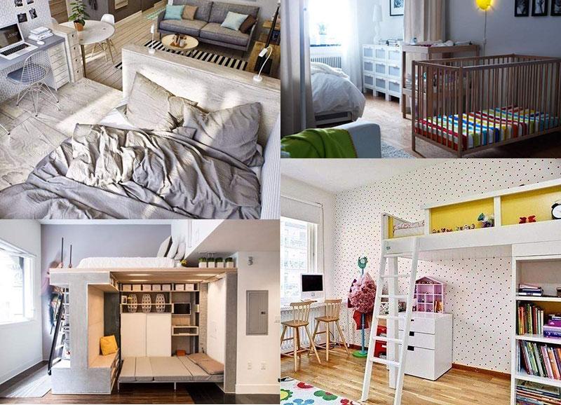 Дизайн маленькой квартиры для семьи с одним ребенком – одна комната площадью 17 м2