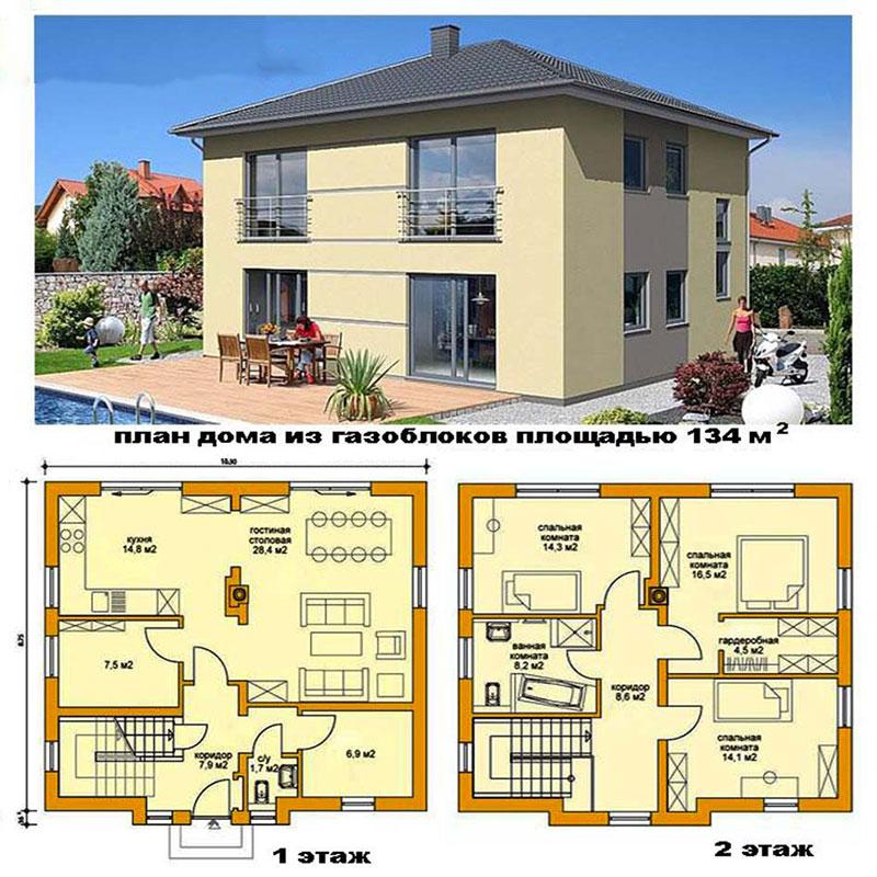 Проектная документация на двухэтажный коттедж