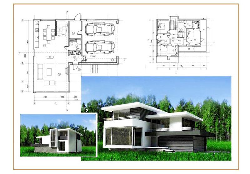 Проект частного дома в стиле хай-тек