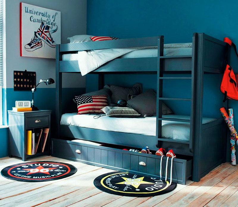 Расположение мебели в детской для мальчика