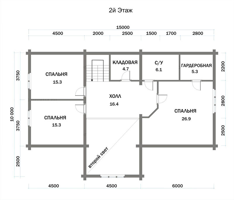 План дома 10 на 12 м2