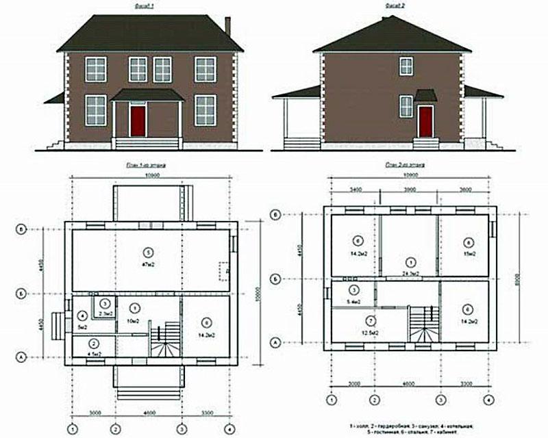 Разработка проекта строения 12 на 10 м2