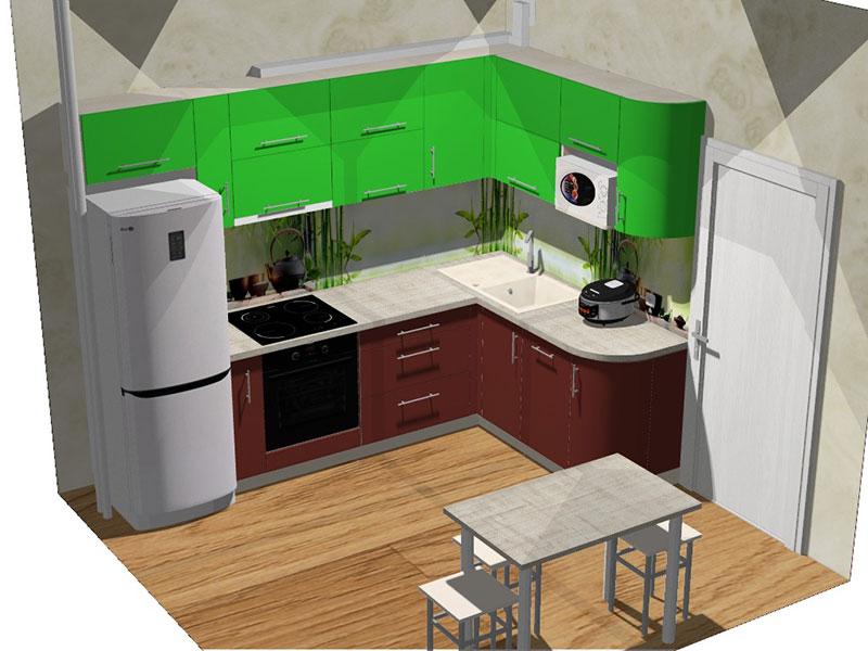 3D-визуализация проекта кухонного гарнитура