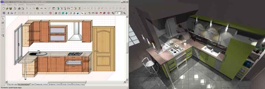 Программа для моделирования дизайна кухни PRO100