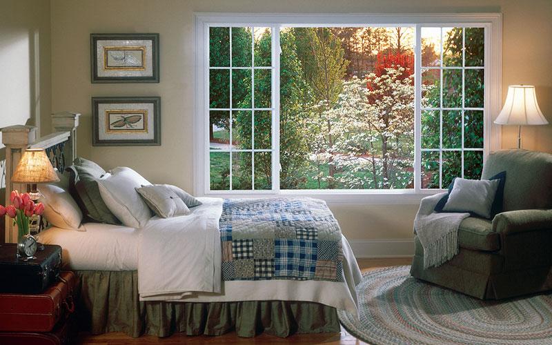 Фальшивое окно в спальне
