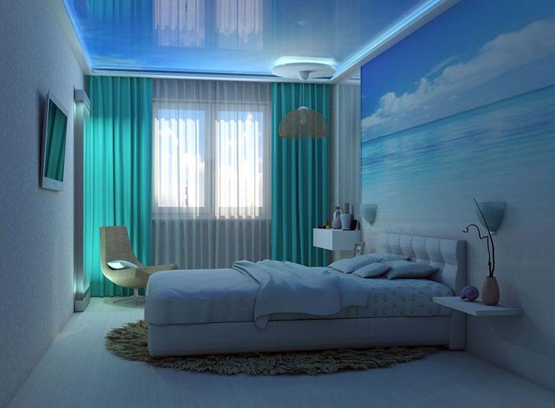 Голубое спальное помещение